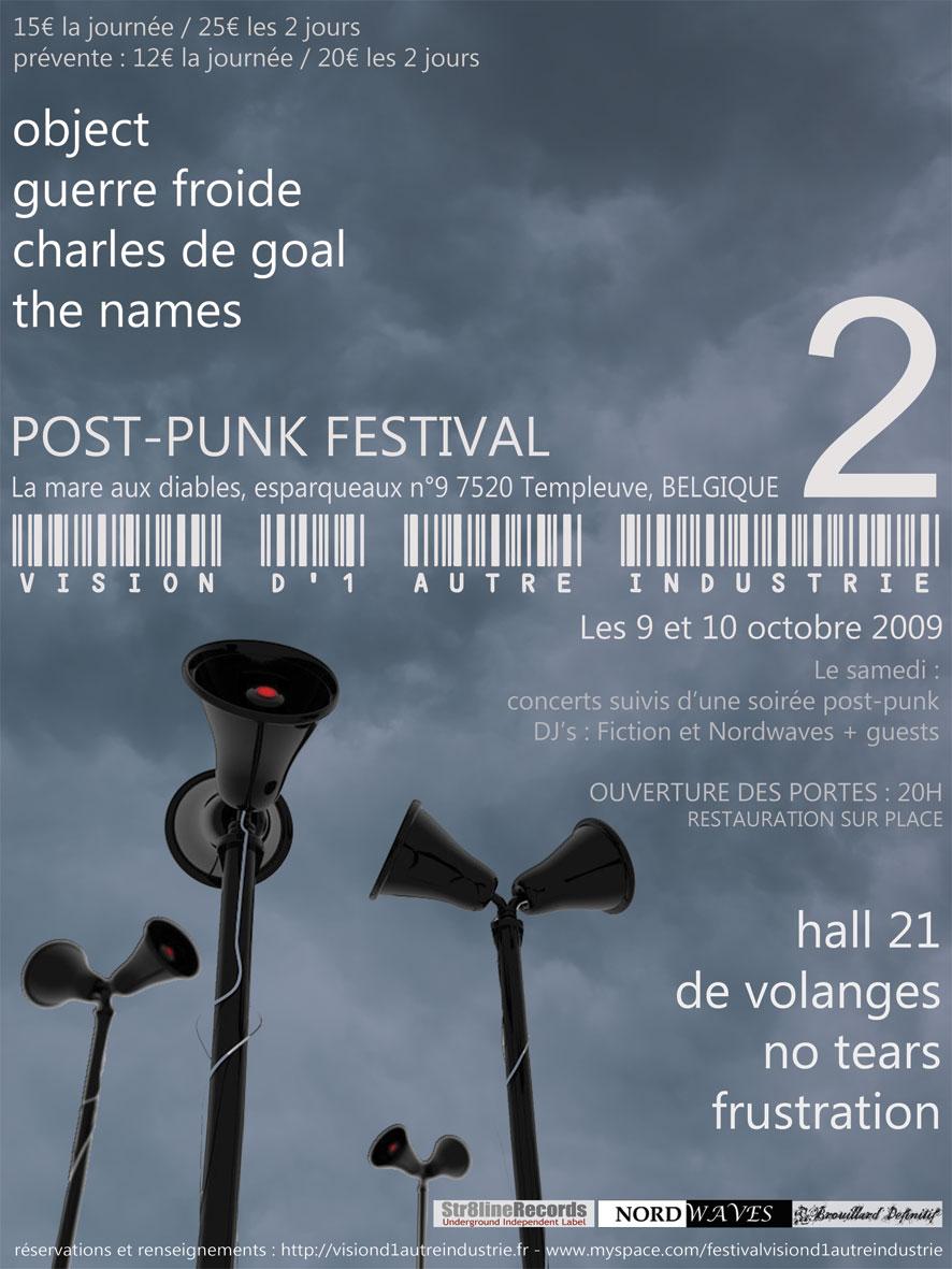 Affiche festival Vision d'une autre industrie 2